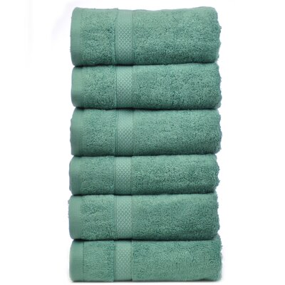 Blossom Hand Towel Color: Green