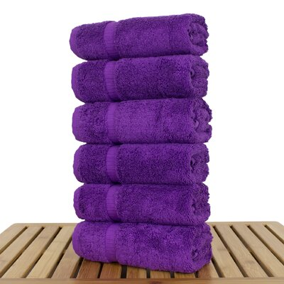 Orchid Hand Towel Set Color: Eggplant
