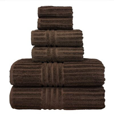 Cypress 6 Piece Towel Set Color: Cocoa