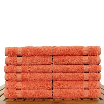 Orchid Washcloth Set Color: Coral