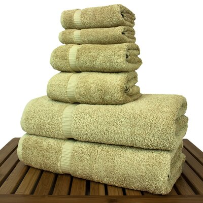 Luxury 6 Piece Turkish Cotton Towel Set Color: Driftwood