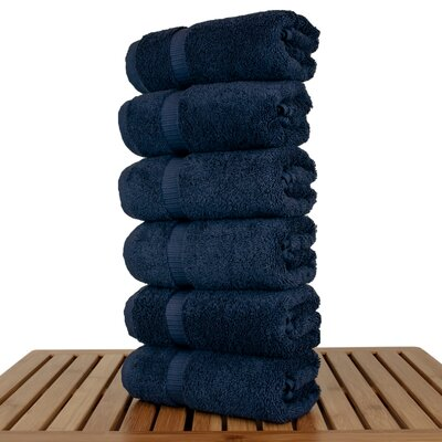 Orchid Hand Towel Set Color: Navy