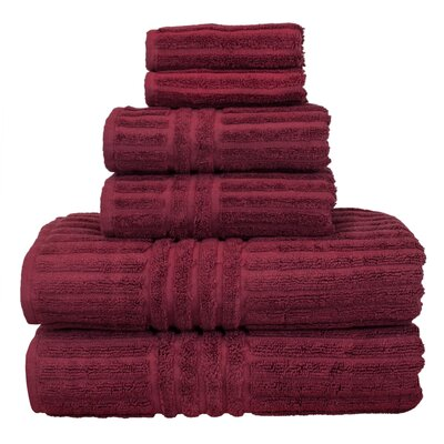 Cypress 6 Piece Towel Set Color: Cranberry