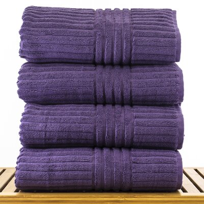 Cypress100% Cotton Bath Towel Color: Plum