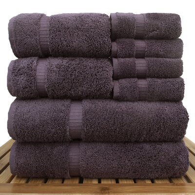 Luxury Hotel and Spa 8 Piece Towel Set Color: Plum
