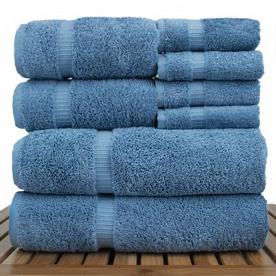 Luxury Hotel and Spa 8 Piece Towel Set Color: Wedgewood