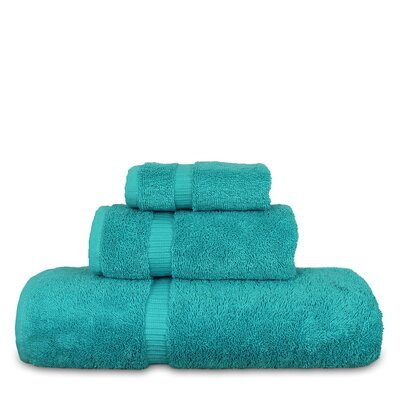 Luxury Hotel and Spa 3 Piece Towel Set Color: Aqua Blue
