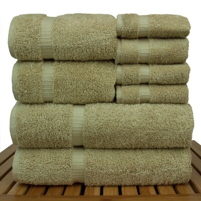 Orchid 8 Piece Towel Set Color: Driftwood