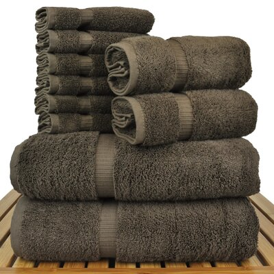 Luxury Hotel and Spa 10 Piece Towel Set Color: Cocoa