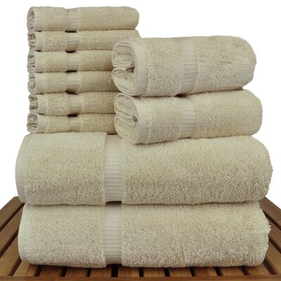 Orchid 10 Piece Towel Set Color: Beige