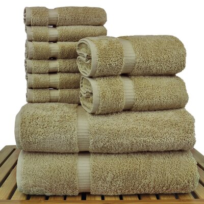 Orchid 10 Piece Towel Set Color: Driftwood