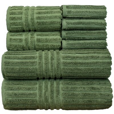 Luxury Hotel and Spa 8 Piece Towel Set Color: Moss