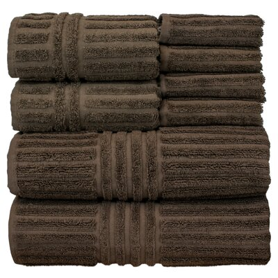 Cypress 8 Piece Towel Set Color: Cocoa