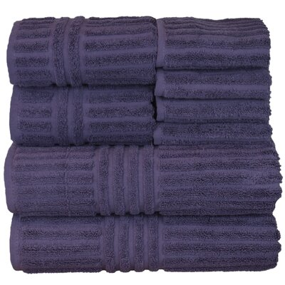 Cypress 8 Piece Towel Set Color: Plum