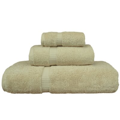 Orchid 3 Piece Towel Set Color: Beige