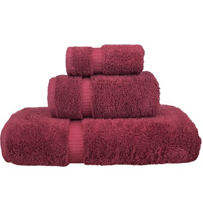 Orchid 3 Piece Towel Set Color: Cranberry