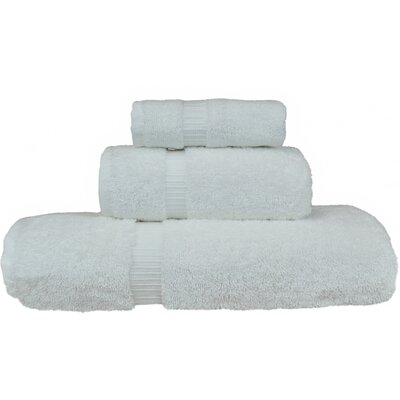 Orchid 3 Piece Towel Set Color: White