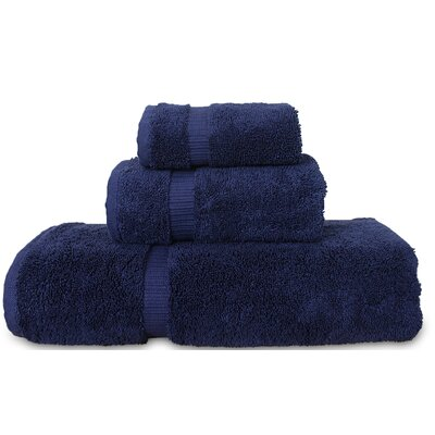 Luxury Hotel and Spa 3 Piece Towel Set Color: Navy