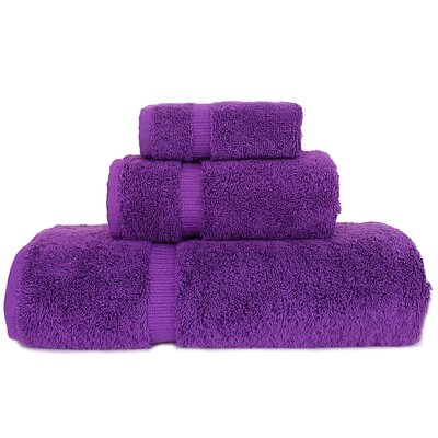 Orchid 3 Piece Towel Set Color: Eggplant