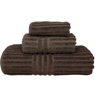 Cypress 3 Piece Towel Set Color: Cocoa