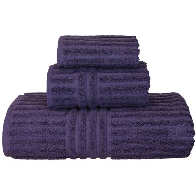 Luxury Hotel and Spa 3 Piece Towel Set Color: Plum