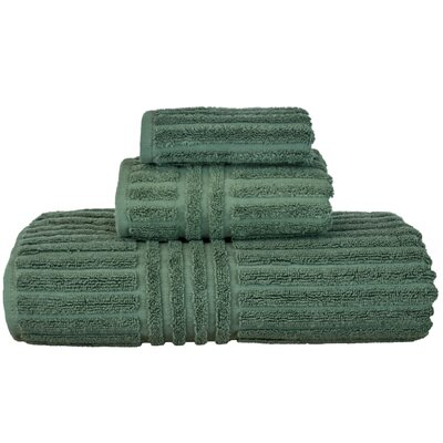 Luxury Hotel and Spa 3 Piece Towel Set Color: Moss