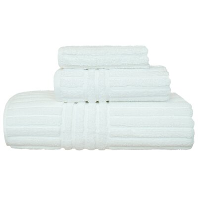 Cypress 3 Piece Towel Set Color: White