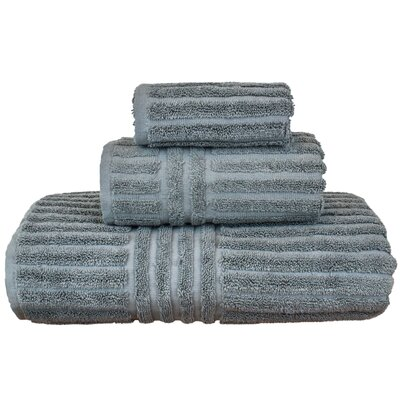 Cypress 3 Piece Towel Set Color: Gray