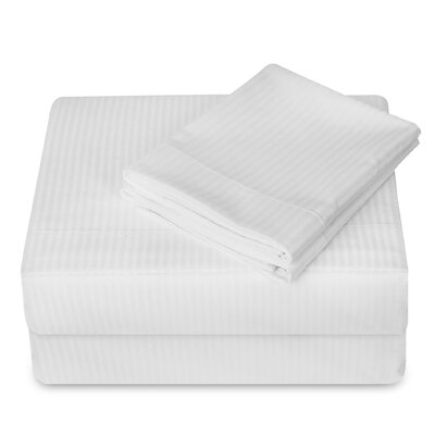 250 Thread Count 4 Piece Sheet Set Size: Queen