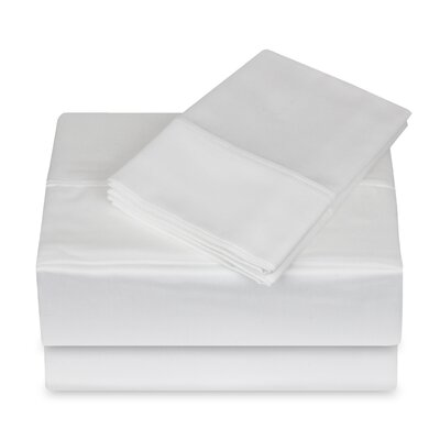 250 Thread Count 100% Cotton 4 Piece Sheet Set Size: King, Color: White