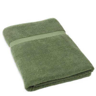 Wellston Turkish Cotton Oversize Large Bath Towel Color: Moss