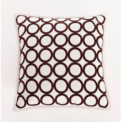 Embroidered Ring Cotton Throw Pillow