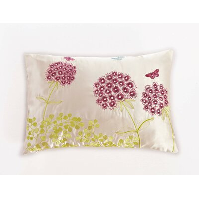 Embroidered Long Herb Lumbar Pillow
