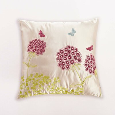 Embroidered Herb Throw Pillow