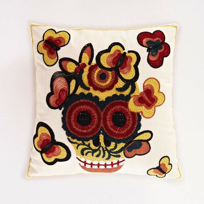 Calavera Cotton Throw Pillow