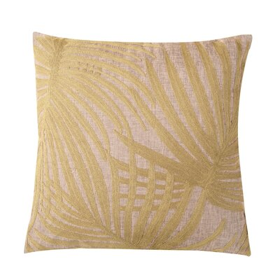 Embroidered Palm Leaf Throw Pillow Color: Green