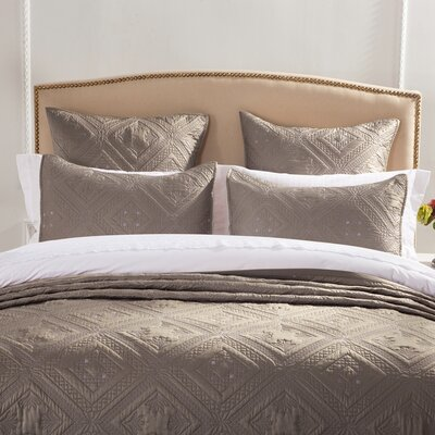 Fern Crystal Pillow Sham Size: Standard, Color: Khaki