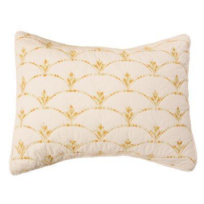 Rainbow Scale Pillow Sham Size: Standard, Color: Ivory