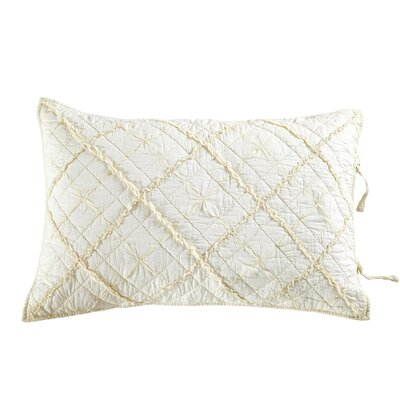 Diamond Applique Pillow Sham Size: Standard, Color: Ivory