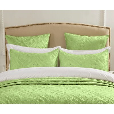 Cabana Pillow Sham Size: Euro, Color: Lime