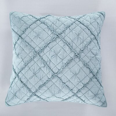 Diamond Applique Pillow Sham Size: Euro, Color: Pacific Blue