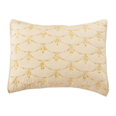 Rainbow Scale Pillow Sham Size: Standard, Color: Wheat