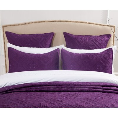 Cabana Pillow Sham Size: Standard, Color: Purple
