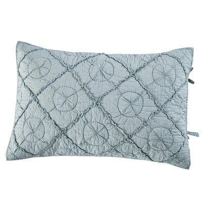Gaeta Pillow Sham Size: Euro, Color: Fog