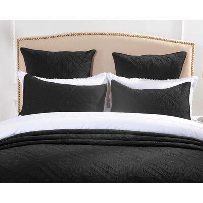 Cabana Pillow Sham Size: Standard, Color: Black
