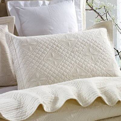 Saint Luxury Pure Cotton Quilted Pillow Sham Size: Standard