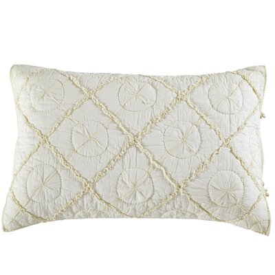 Gaeta Pillow Sham Size: Euro, Color: Ivory