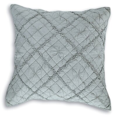 Diamond Applique Pillow Sham Size: Euro, Color: Fog
