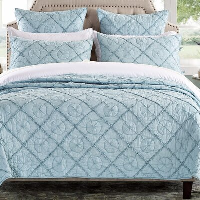 Country Idyl Quilt Size: Queen, Color: Pacific Blue