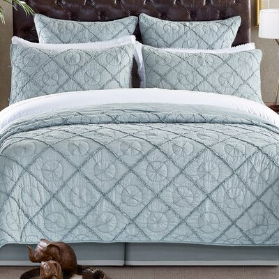 Country Idyl Quilt Color: Fog, Size: Queen